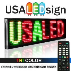 USA Tri Color LED sign with remote