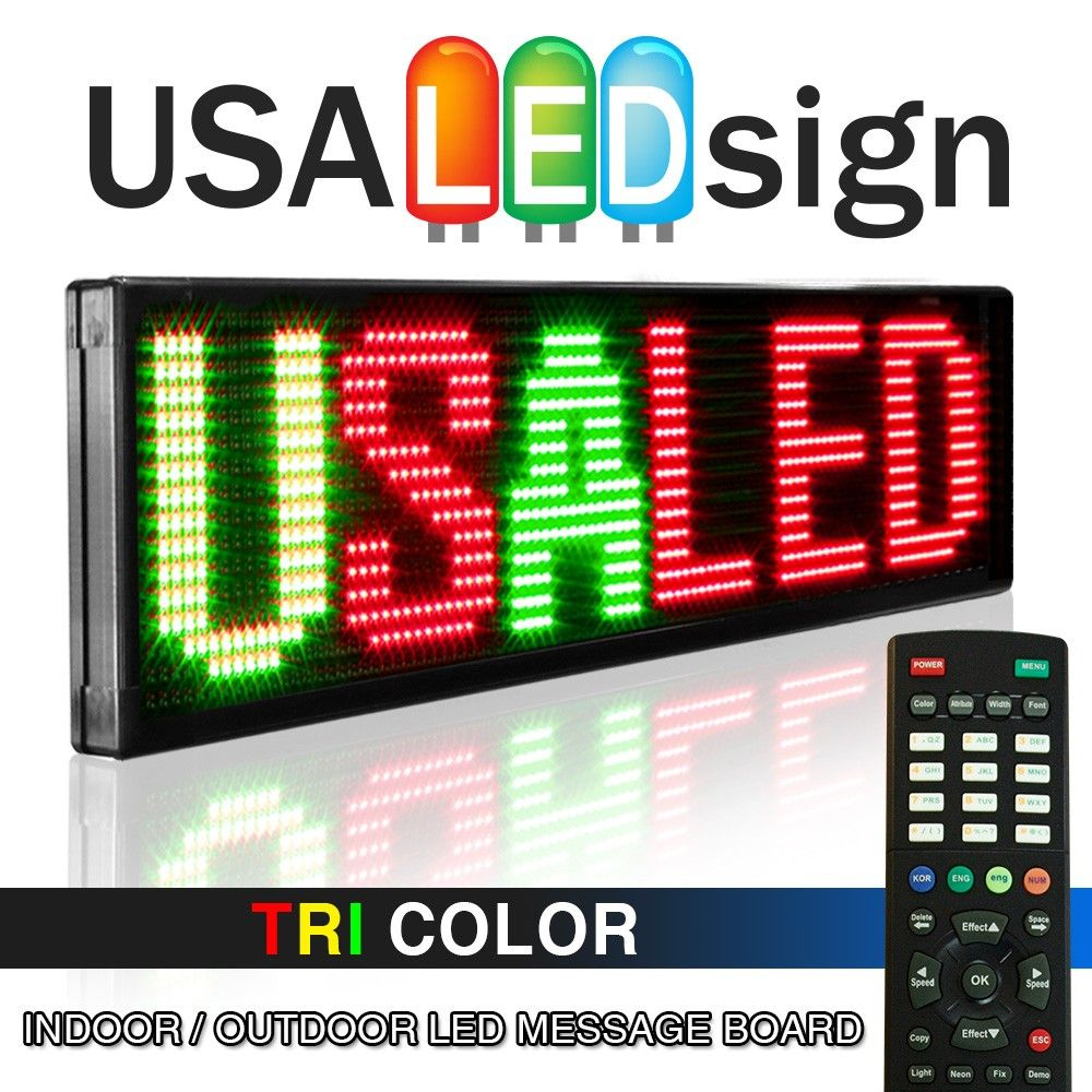 60 X 13 3 Color Led Signs Worlds No 1 Outdoor Electronic Message Boards Usa Sign