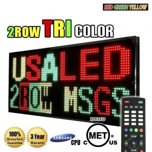 2 row tri color LED sign