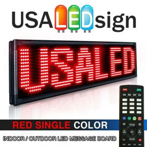 Single color Red LED sign