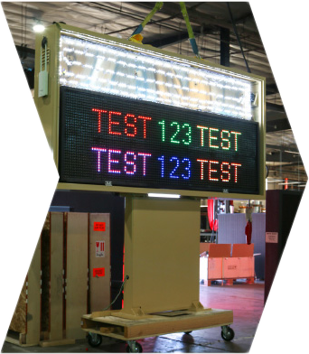 Aging and Environment testing an LED sign
