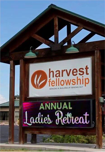 Harvest Fellowship LED sign Board