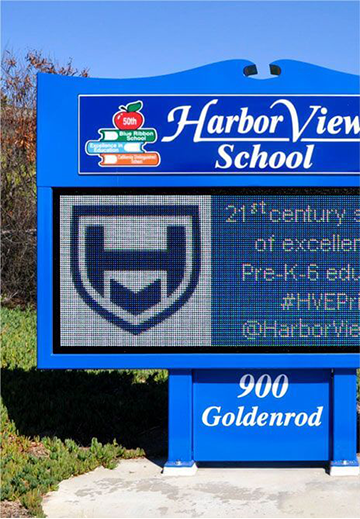 Harbor View School LED sign board